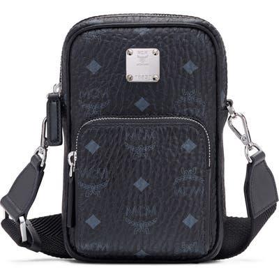 Mcm Mini Visetos Original Coated Canvas Crossbody Bag - Black