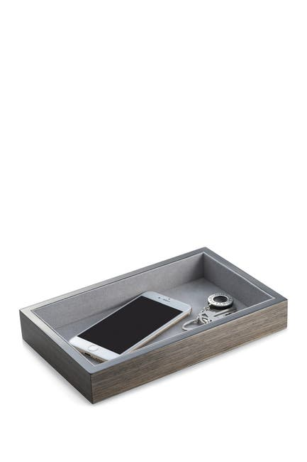 Image of Bey-Berk Lacquered Gray Wood Open Face Valet