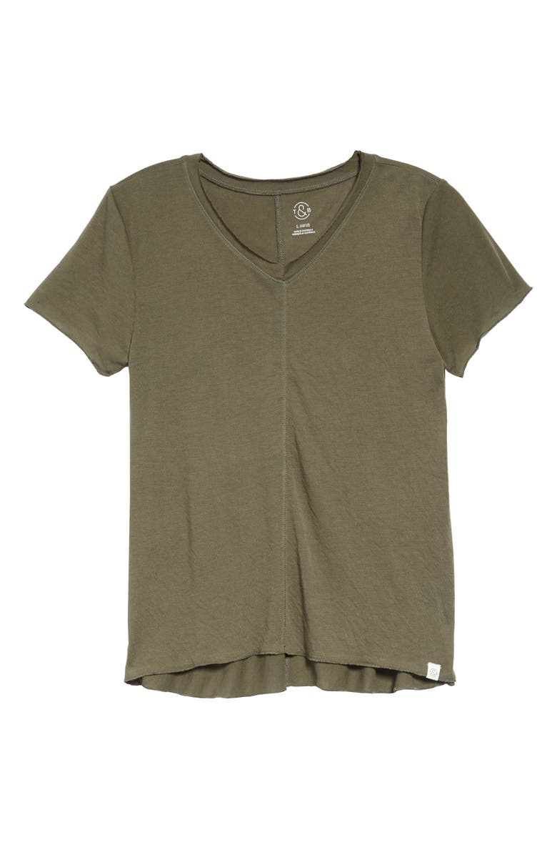 TREASURE & BOND Kids' Easy Swing Tee, Main, color, OLIVE GROVE