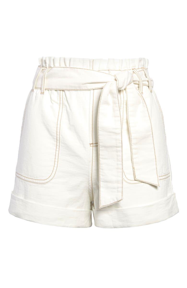 BP. Paperbag Shorts, Main, color, IVORY