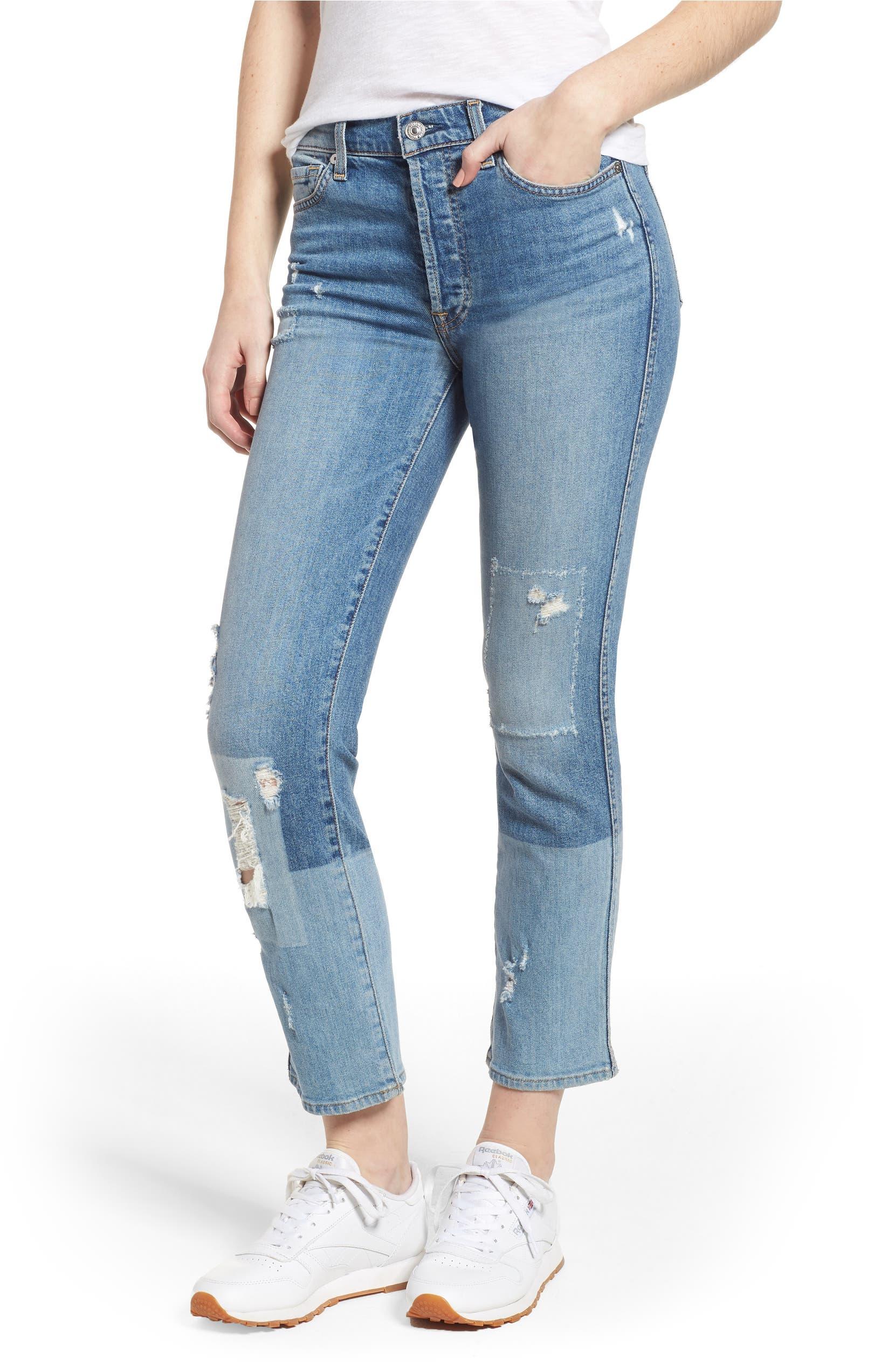 e022b20526ff 7 For All Mankind® Edie High Waist Crop Straight Leg Jeans (Mineral Desert  Springs 2)   Nordstrom