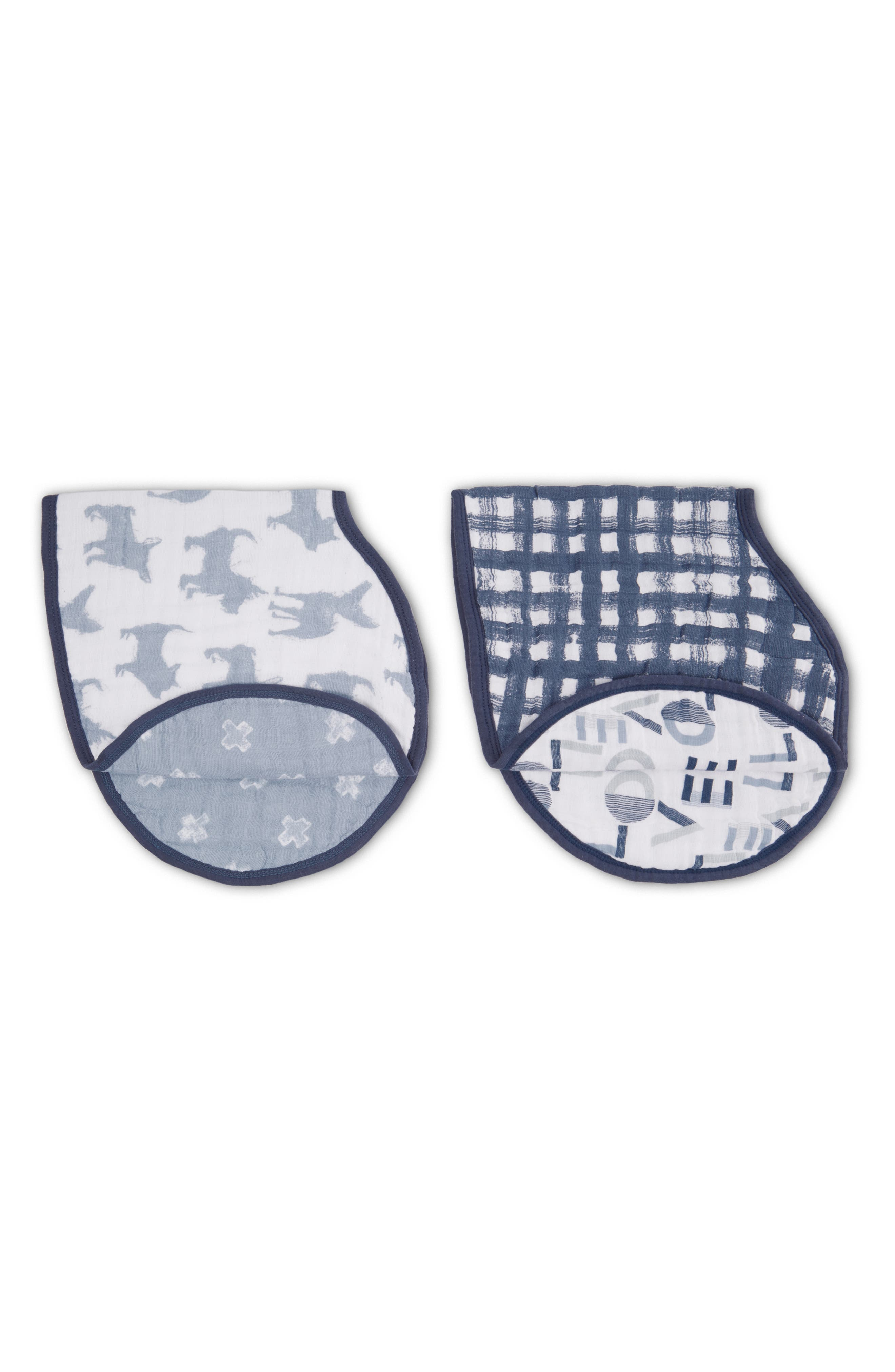Infant Aden  Anais 2Pack Classic Burpy Bibs Size One Size  Blue