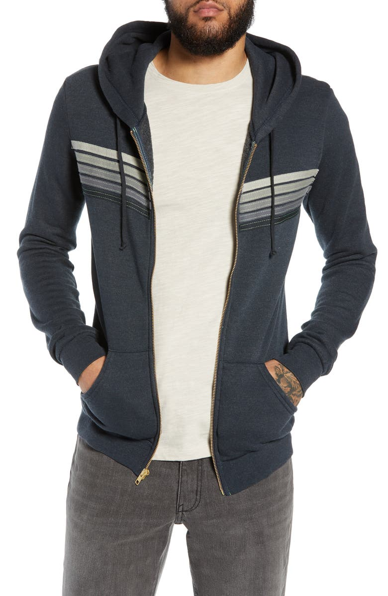 AVIATOR NATION 5-Stripe Zip Hoodie, Main, color, 020