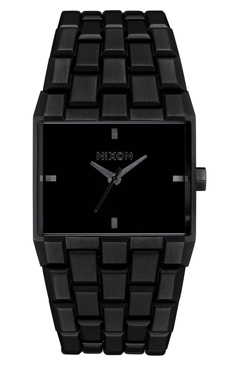 NIXON The Ticket Bracelet Watch, 34mm, Main, color, BLACK