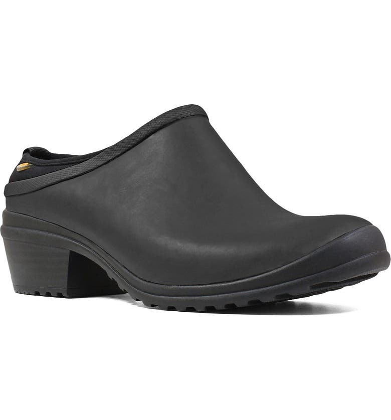 BOGS Vista Waterproof Clog, Main, color, BLACK RUBBER