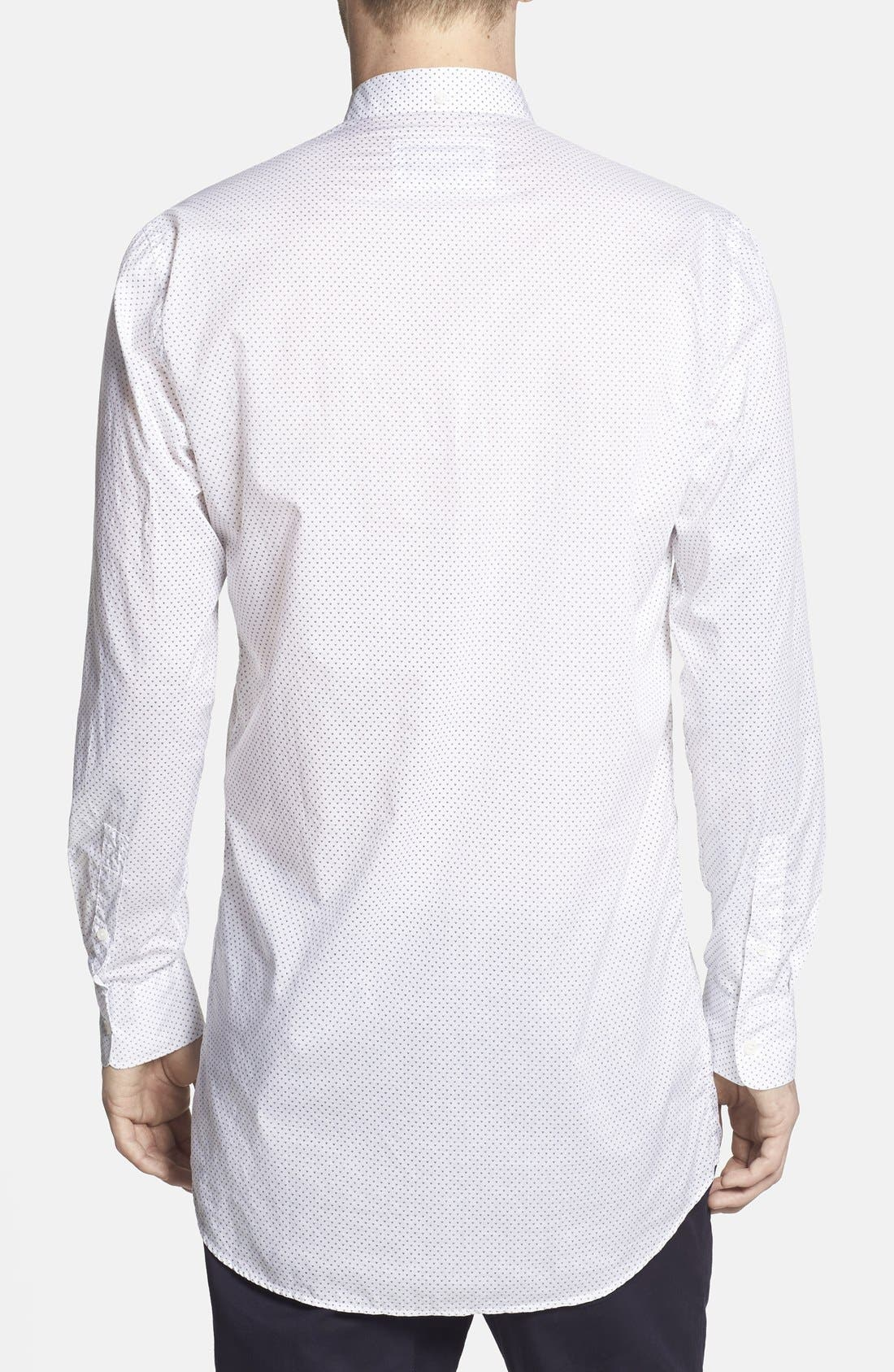 ,                             'Eight Foot' Elongated Print Woven Shirt,                             Alternate thumbnail 3, color,                             100
