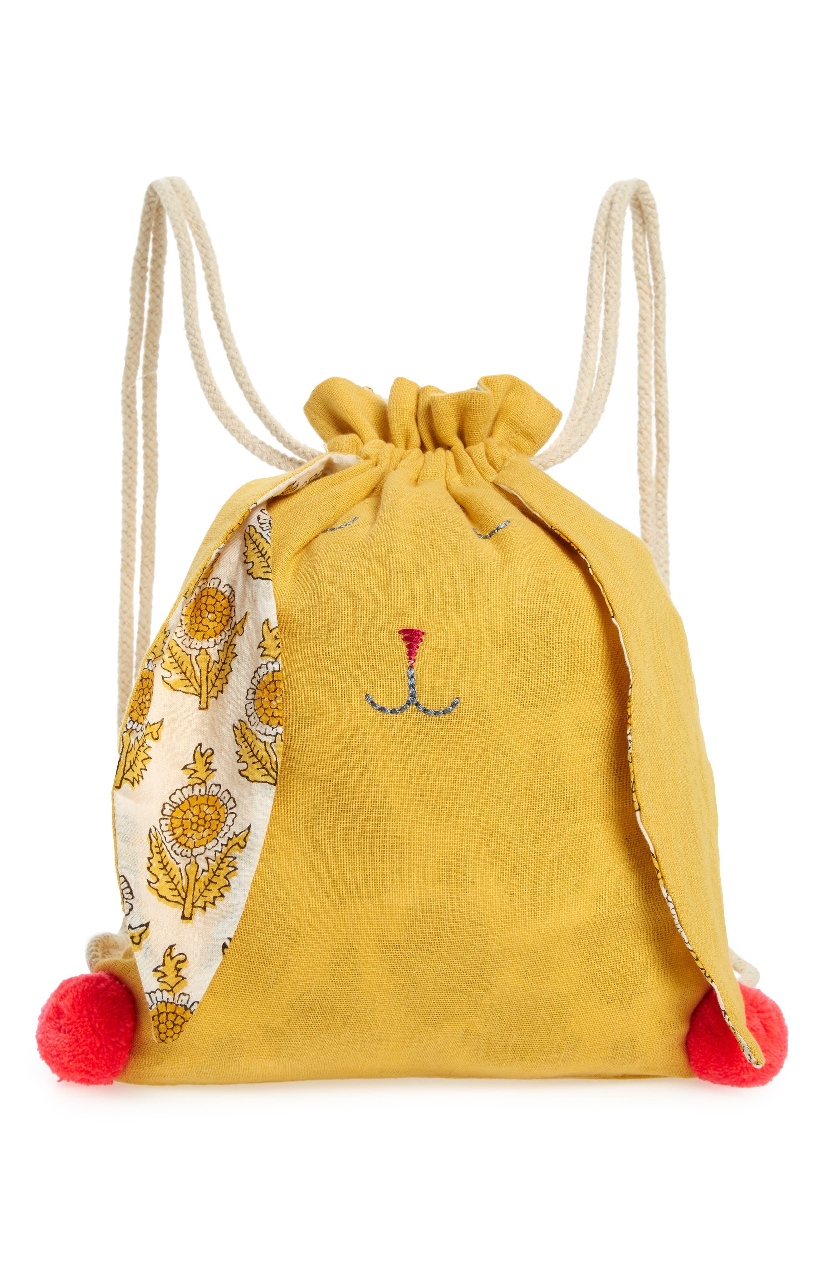 Girls Lali Bunny Sleepy Bunny Backpack  Yellow