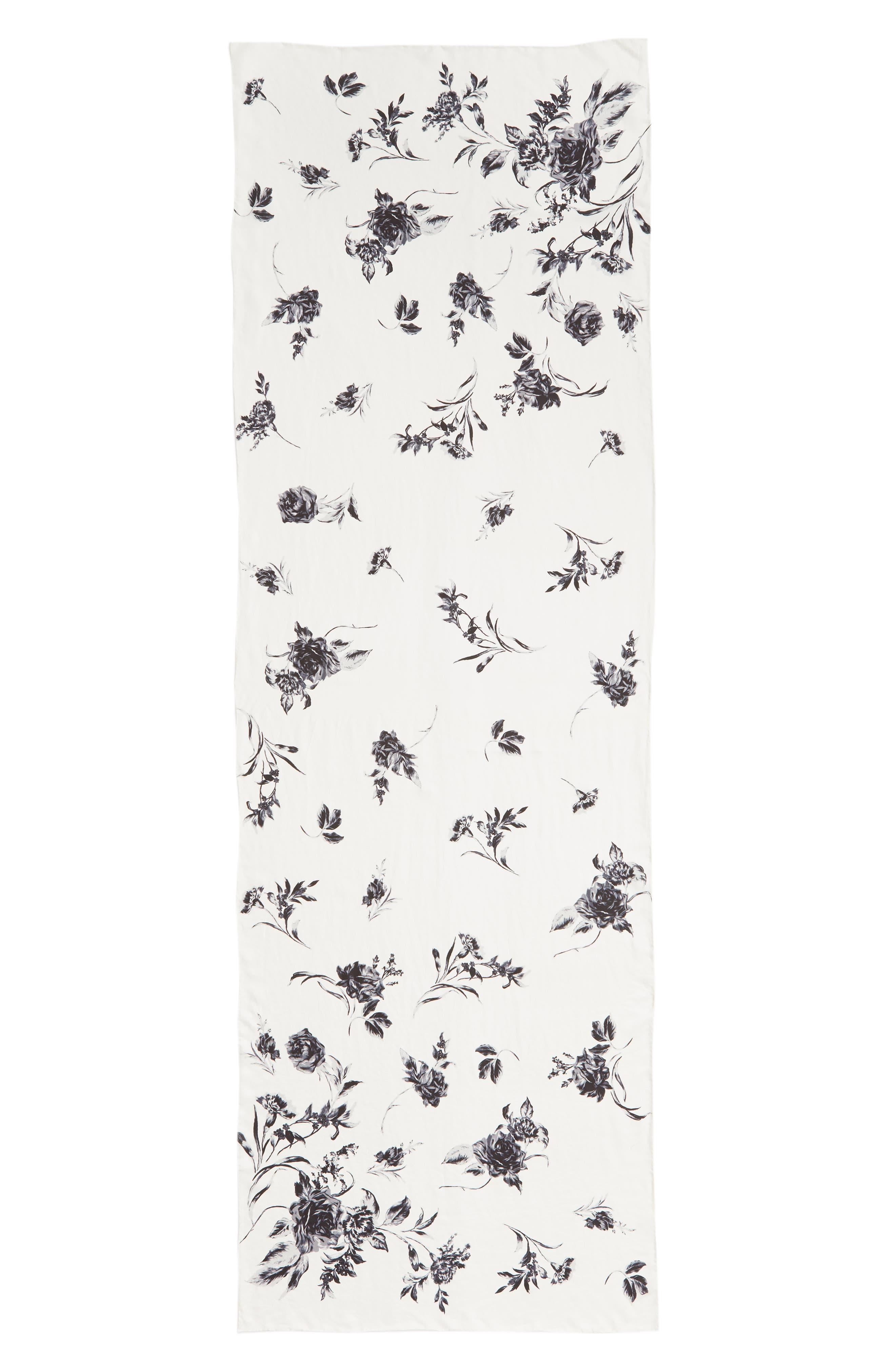 ,                             Floral Silk Wrap,                             Alternate thumbnail 7, color,                             900