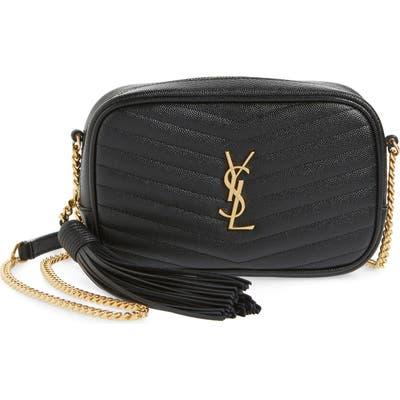 Saint Laurent Mini Lou Quilted Leather Crossbody Bag - Black