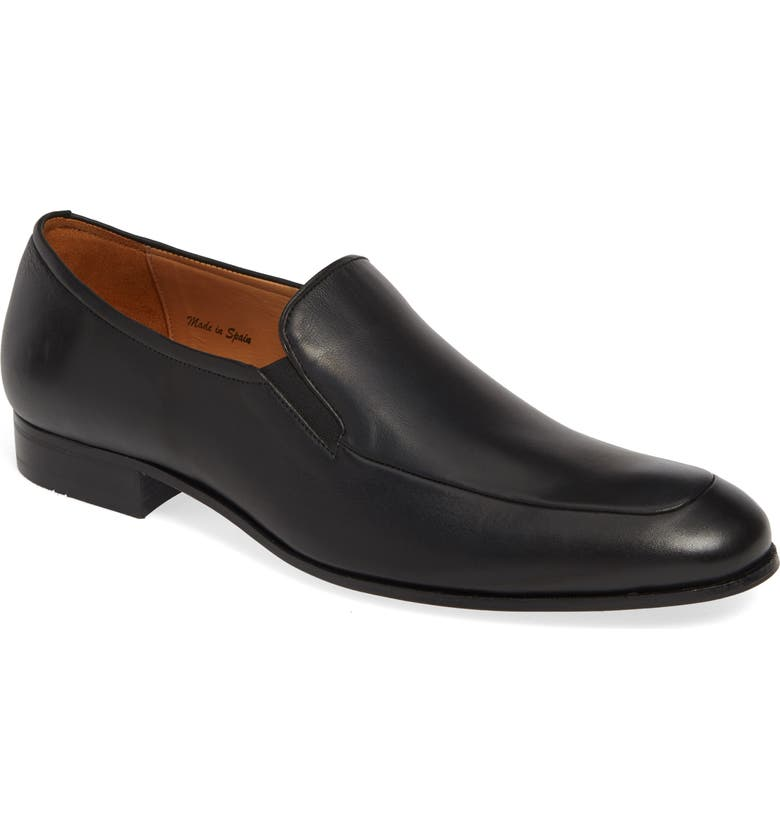 MEZLAN Sergi Venetian Loafer, Main, color, BLACK LEATHER
