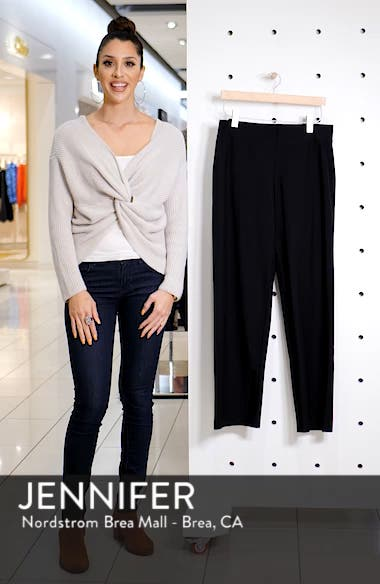Straight Leg Crepe Pants, sales video thumbnail