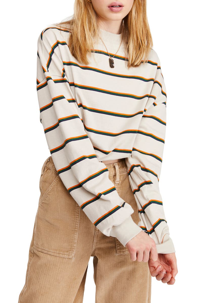 BDG URBAN OUTFITTERS Cinch Hem Stripe Sweatshirt, Main, color, 900