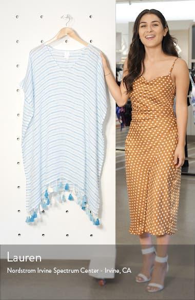 Bali Hai Linen Stripe Cover-Up Caftan, sales video thumbnail