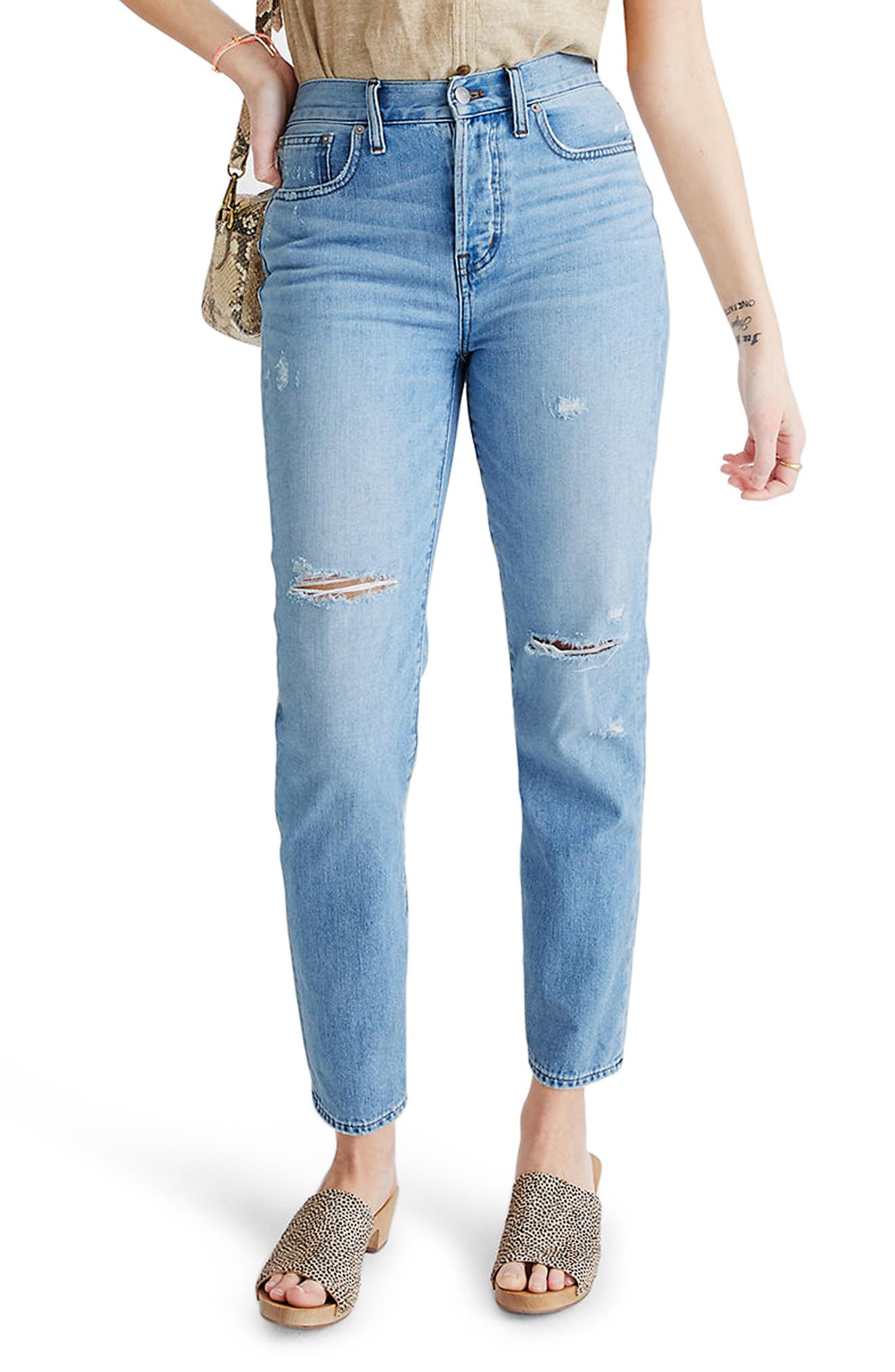 With the waist-accentuating high waist, tapered legs and faded nonstretch denim, these are \\\'mom jeans\\\' . if your mom was a \\\'90s supermodel. Style Name: Madewell The Perfect Vintage Jean (Duncannon). Style Number: 6064790. Available in stores.
