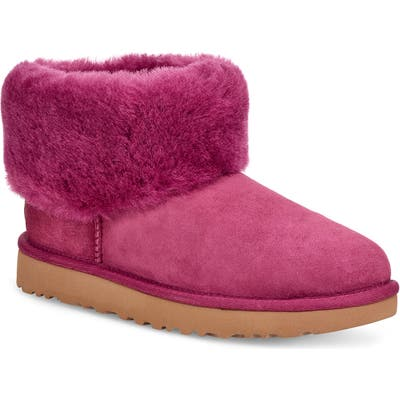 UGG Classic Mini Fluff Genuine Shearling Bootie, Pink