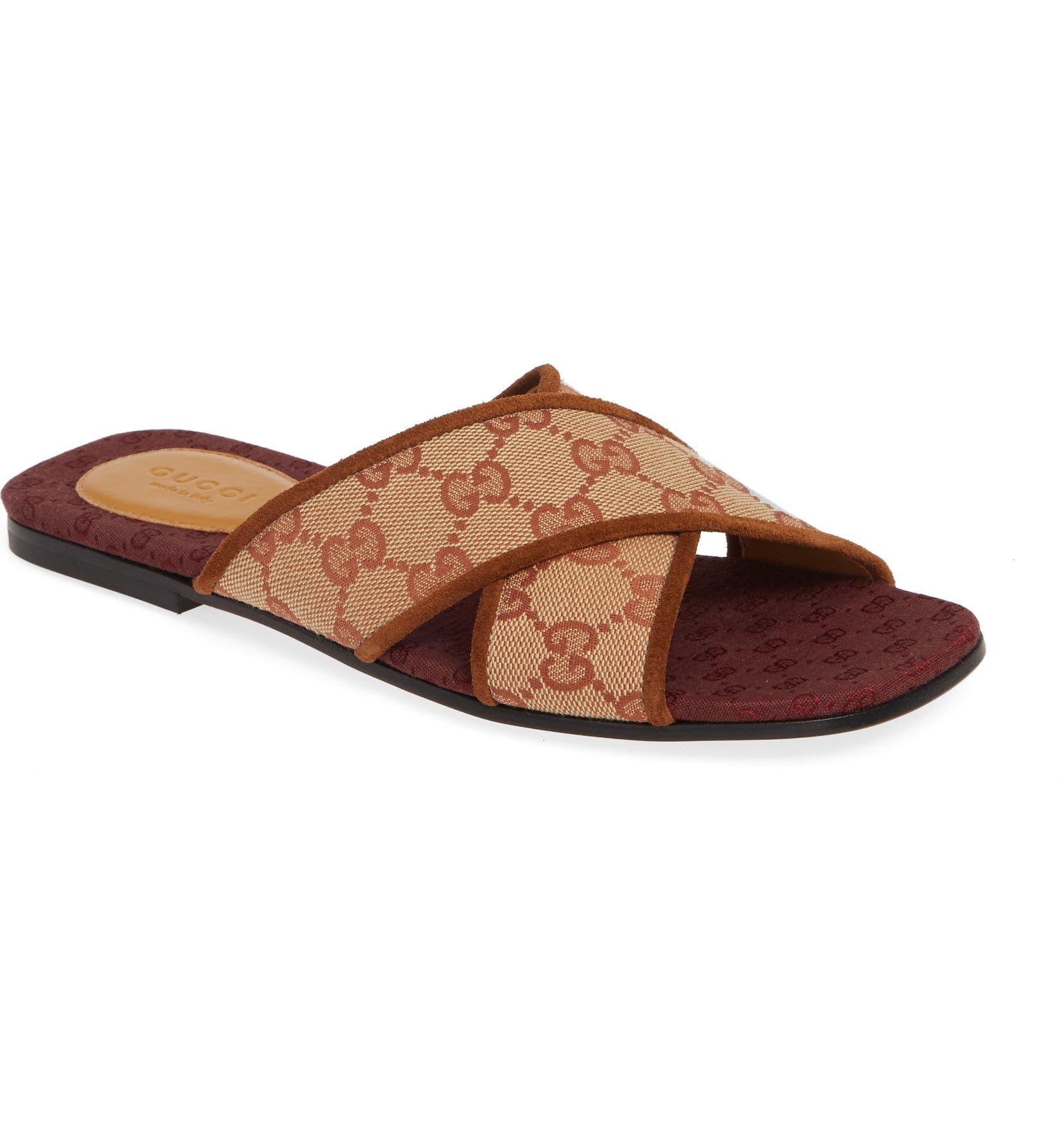 d87aac393 Gucci Senior GG Canvas Slide Sandal (Women) | Nordstrom