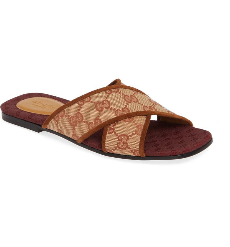Senior Gg Canvas Slide Sandal by Gucci