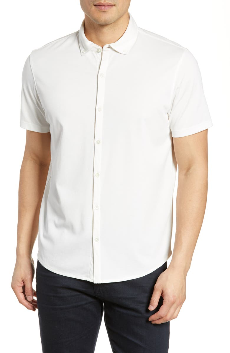 ZACHARY PRELL Caruth Regular Fit Short Sleeve Shirt, Main, color, WHITE