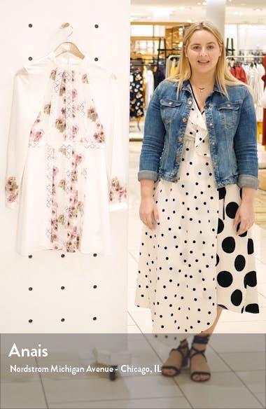 Sundee Floral Lace Trim Long Sleeve Minidress, sales video thumbnail