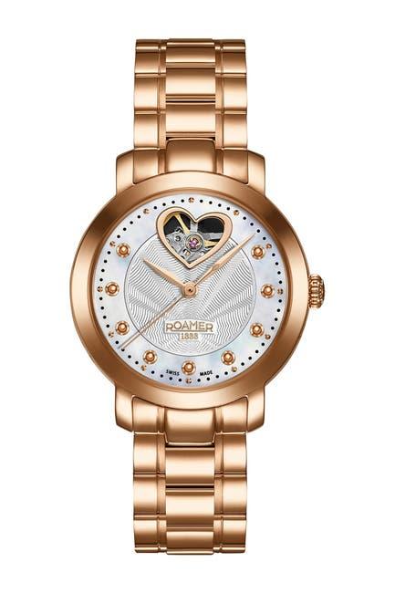 Image of Roamer Women's Sweetheart Automatic Stainless Steel Strap Watch, 34mm