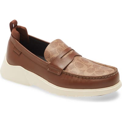 Coach Citysole Signature Penny Loafer - Brown