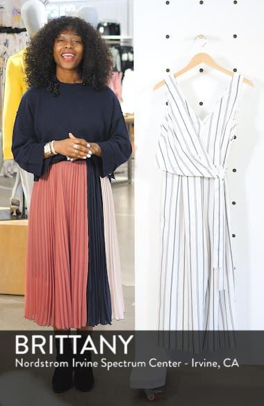 Stripe Faux Wrap Crop Jumpsuit, sales video thumbnail