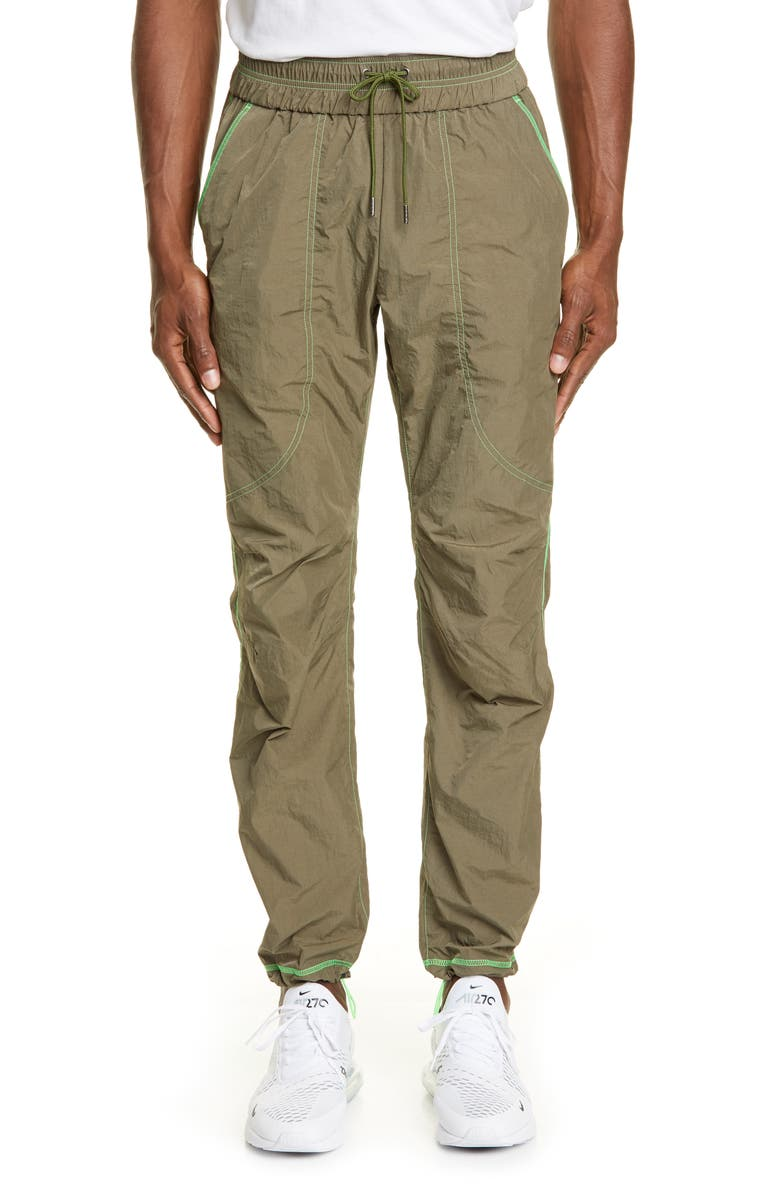 JOHN ELLIOTT Trenton Utility Pants, Main, color, OLIVE X NEON GREEN