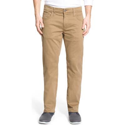 Mavi Jeans Zach Straight Leg Twill Pants, Beige