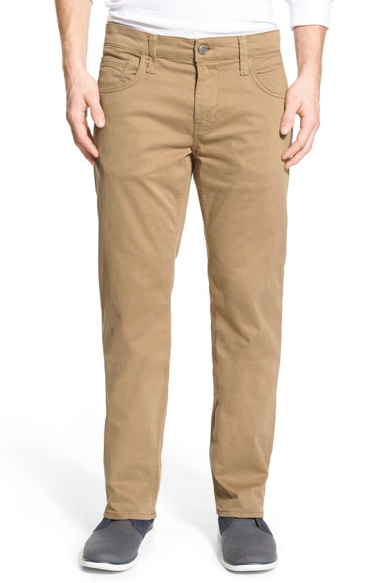 MAVI JEANS Zach Straight Leg Twill Pants, Main, color, KHAKI