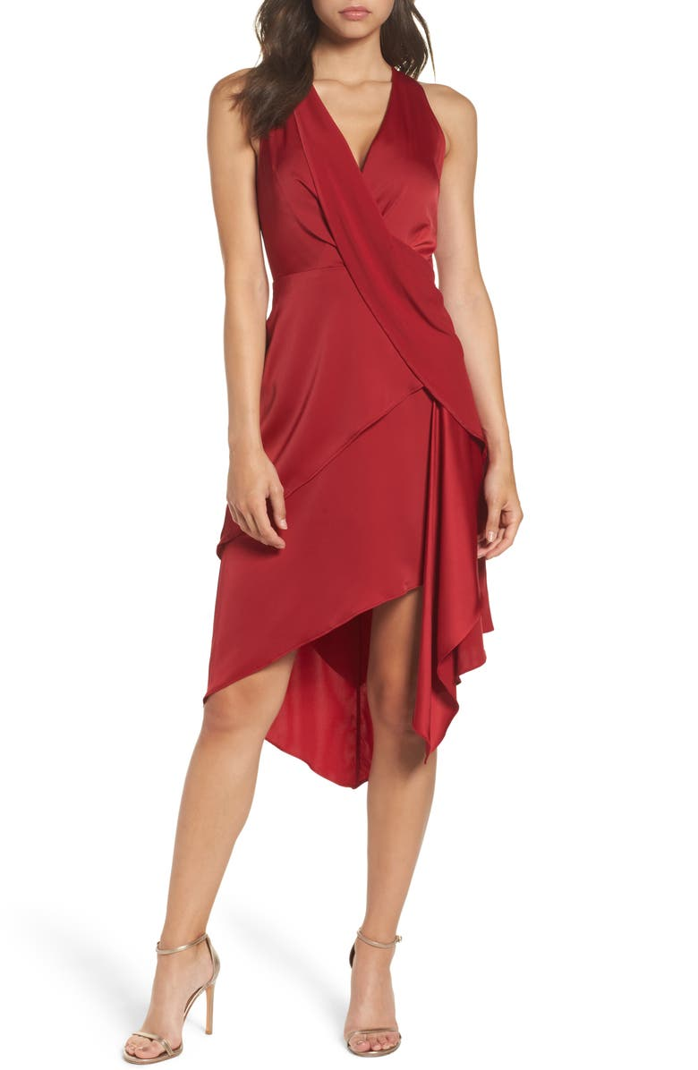 C/MEO COLLECTIVE Influential Asymmetrical Tiered Dress, Main, color, 621