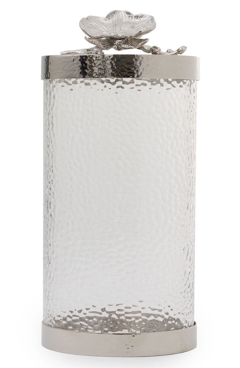 MICHAEL ARAM White Orchid Canister, Main, color, SILVER/ MEDIUM