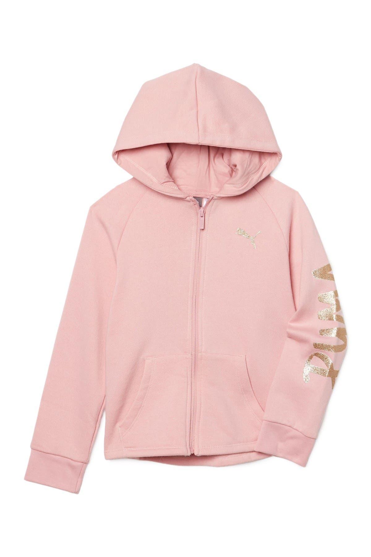 Image of PUMA Tag Pack Fleece Zip Up Hoodie