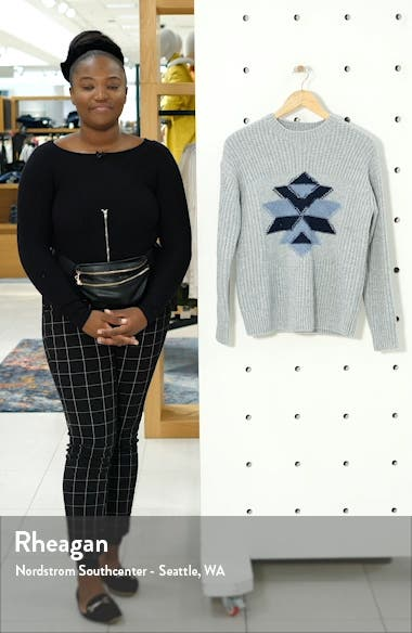Intarsia Snowflake Sweater, sales video thumbnail