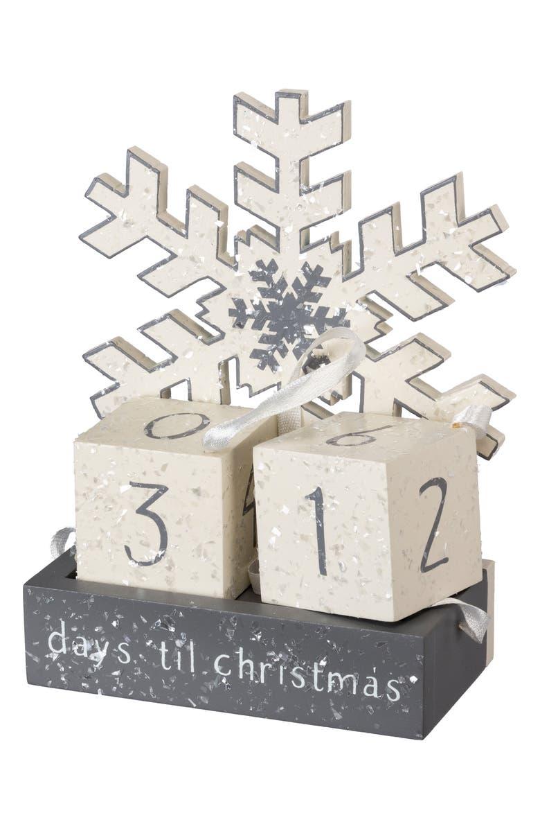PRIMITIVES BY KATHY Block Countdown Snowflake, Main, color, SILVER