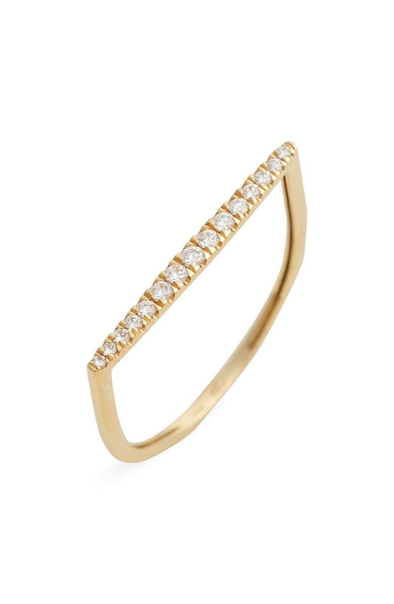 BONY LEVY Diamond 18K Gold Bar Ring, Main, color, 710