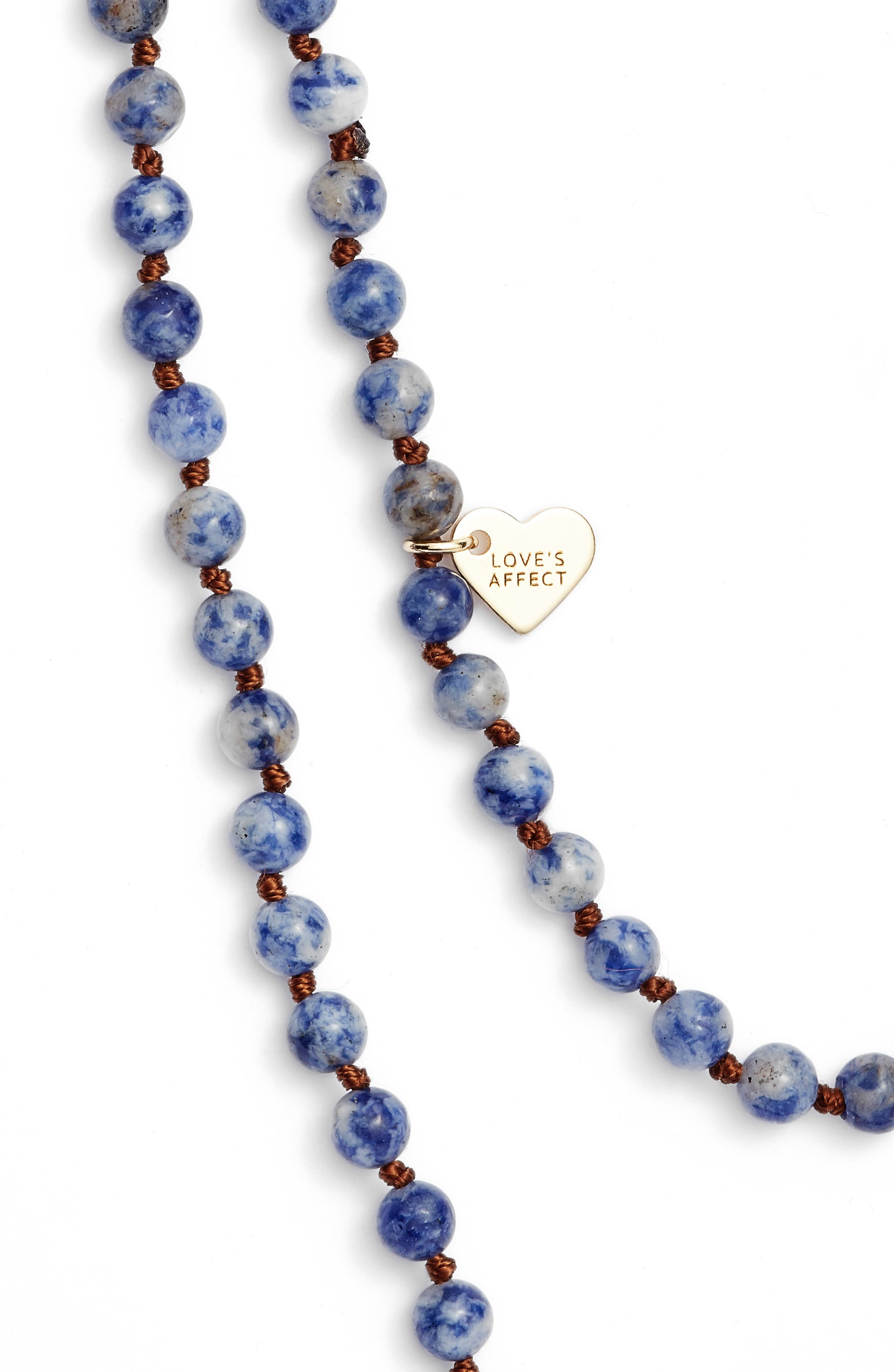 ,                             Love's Affect Knotted Semiprecious Stone Necklace,                             Alternate thumbnail 10, color,                             400