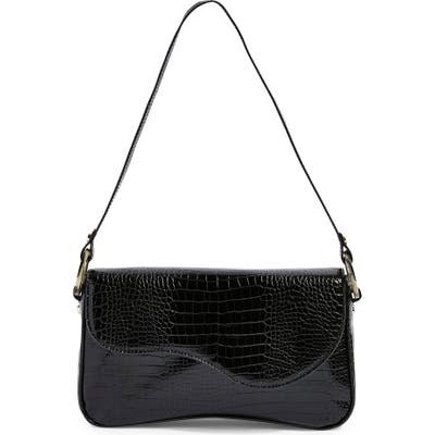 Topshop Remi Croc Shoulder Bag - Black