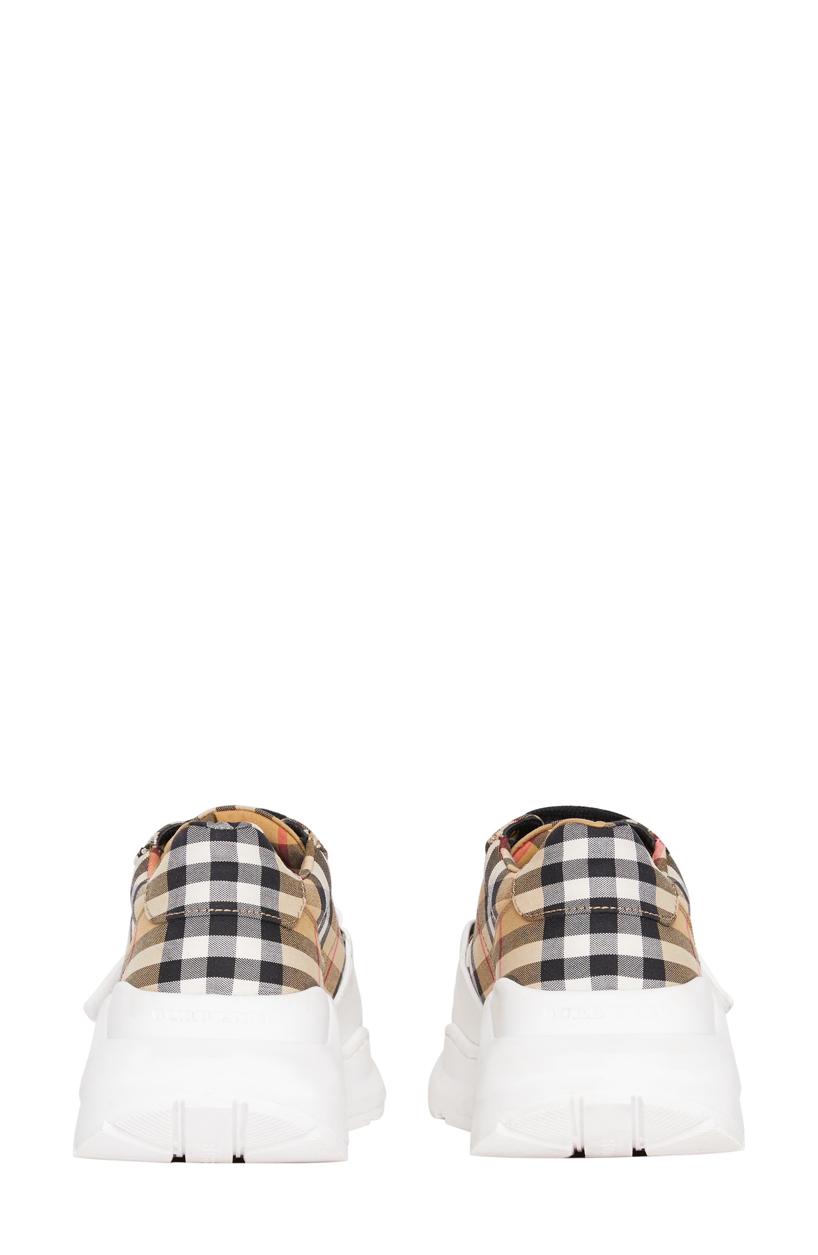,                             Regis Check Lace-Up Sneaker,                             Alternate thumbnail 6, color,                             BEIGE PLAID
