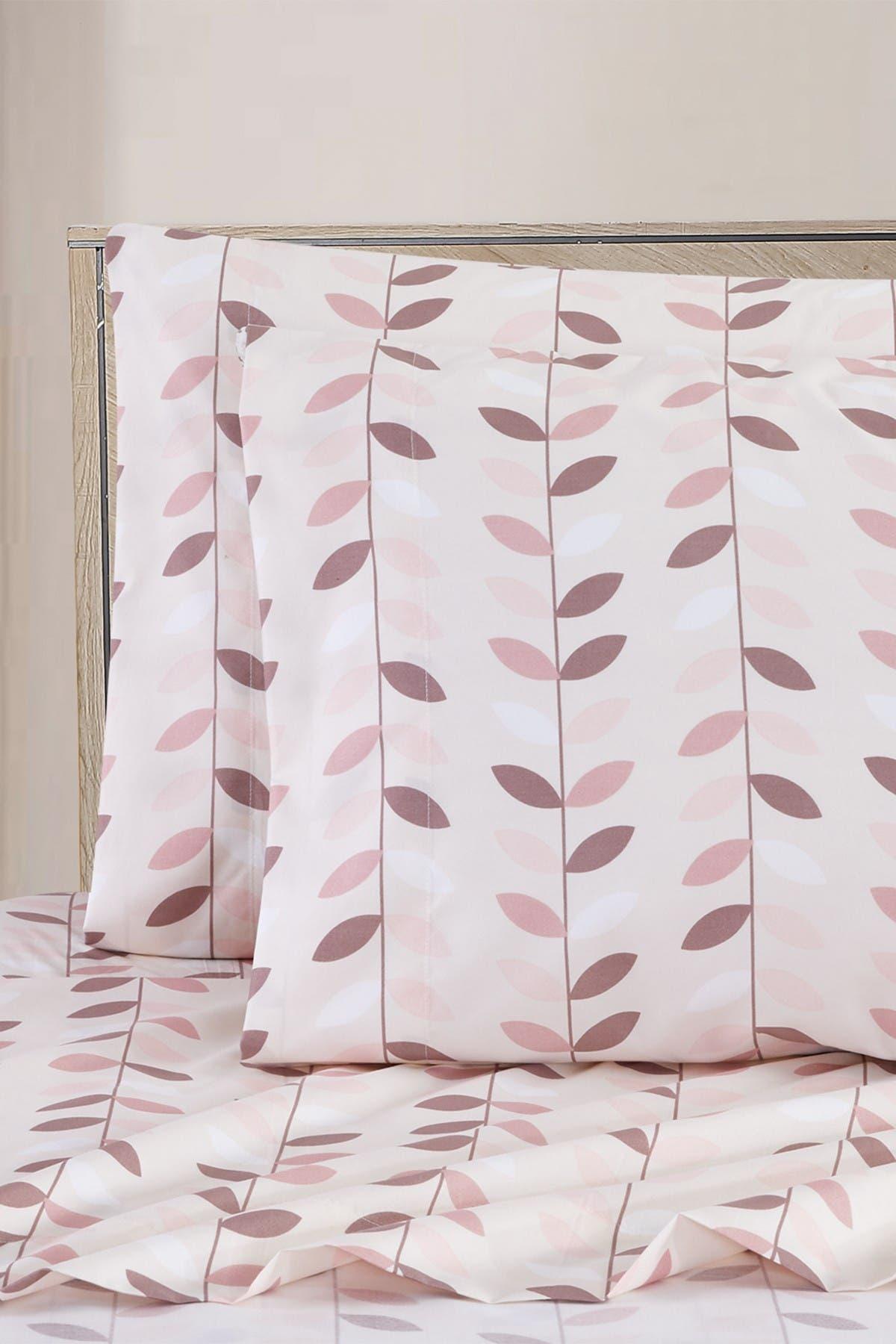 Image of Melange Home Petal Blush King Sheet Set