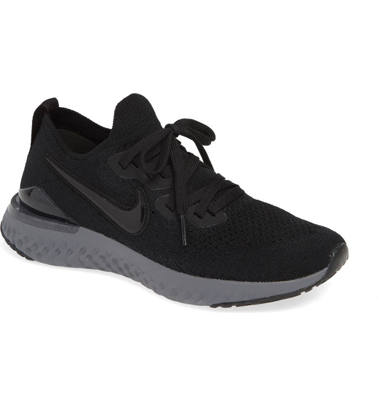 e02c40f64 Epic React Flyknit 2 Running Shoe, Main, color, BLACK/ ANTHRACITE/ GUN