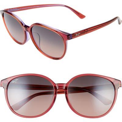 Maui Jim Water Lily 62Mm Polarizedplus2 Round Sunglasses - Pink W/ Lilac/ Maui Rose