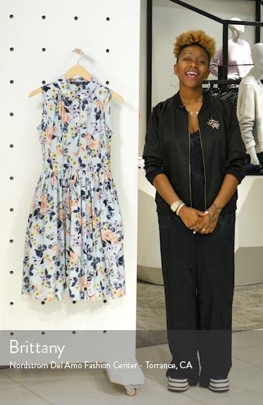 Armoise Voile Fit & Flare Dress, sales video thumbnail