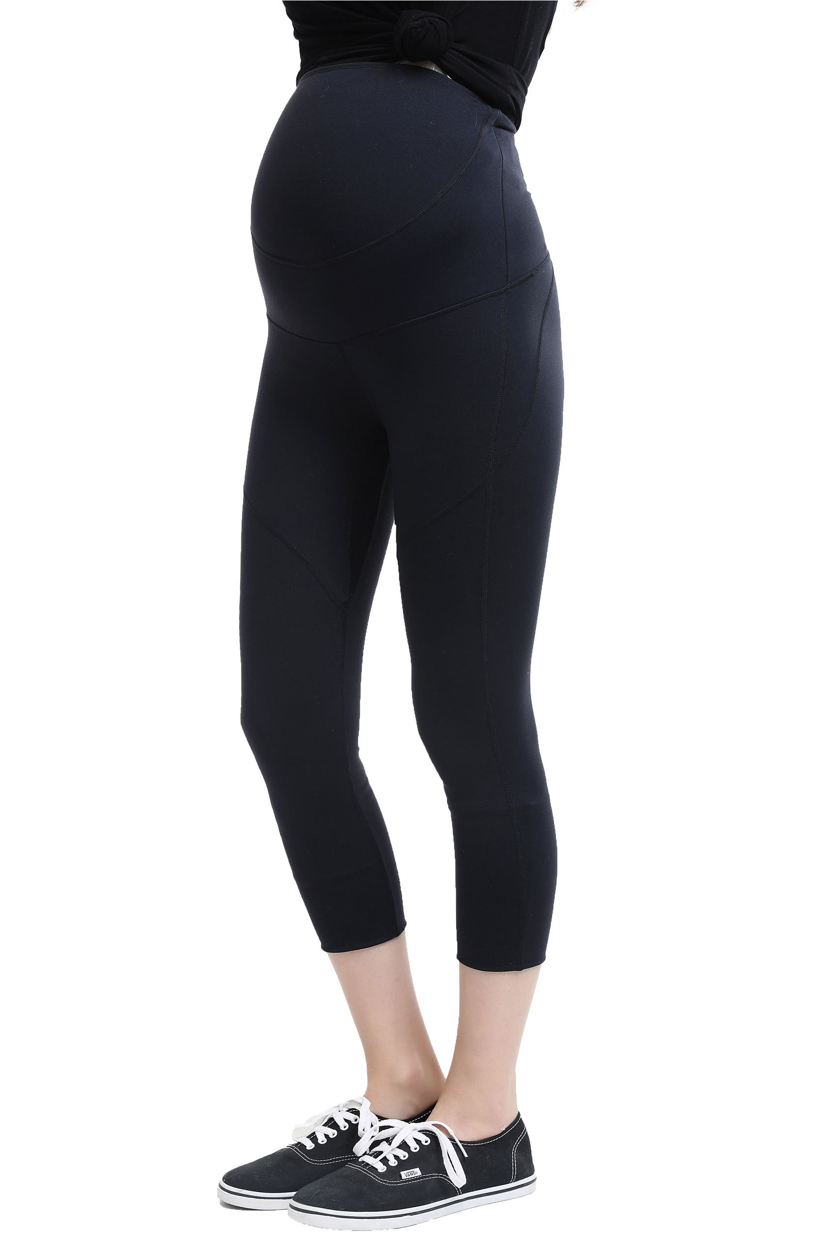 ef0381e5535183 Kimi and Kai Elle High Performance Cropped Maternity Leggings | Nordstrom