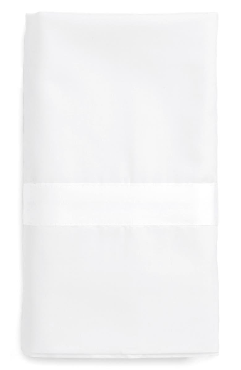 MATOUK Lowell 600 Thread Count Pillowcase, Main, color, WHITE