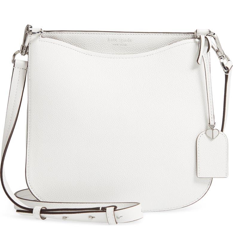 KATE SPADE NEW YORK margaux large crossbody bag, Main, color, OPTIC WHITE
