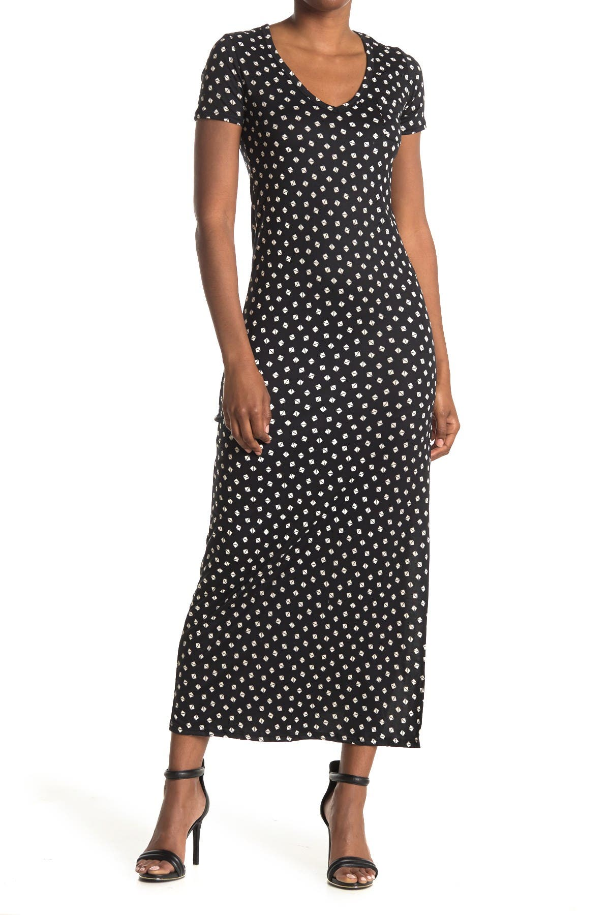 Image of Velvet Torch Geo Print Pocket Maxi Dress