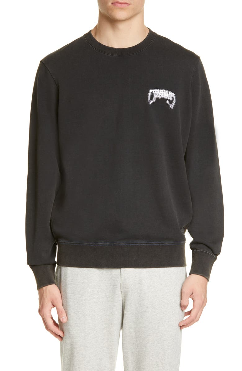 OVADIA & SONS Type 01 Cali Logo Graphic Sweatshirt, Main, color, BLACK