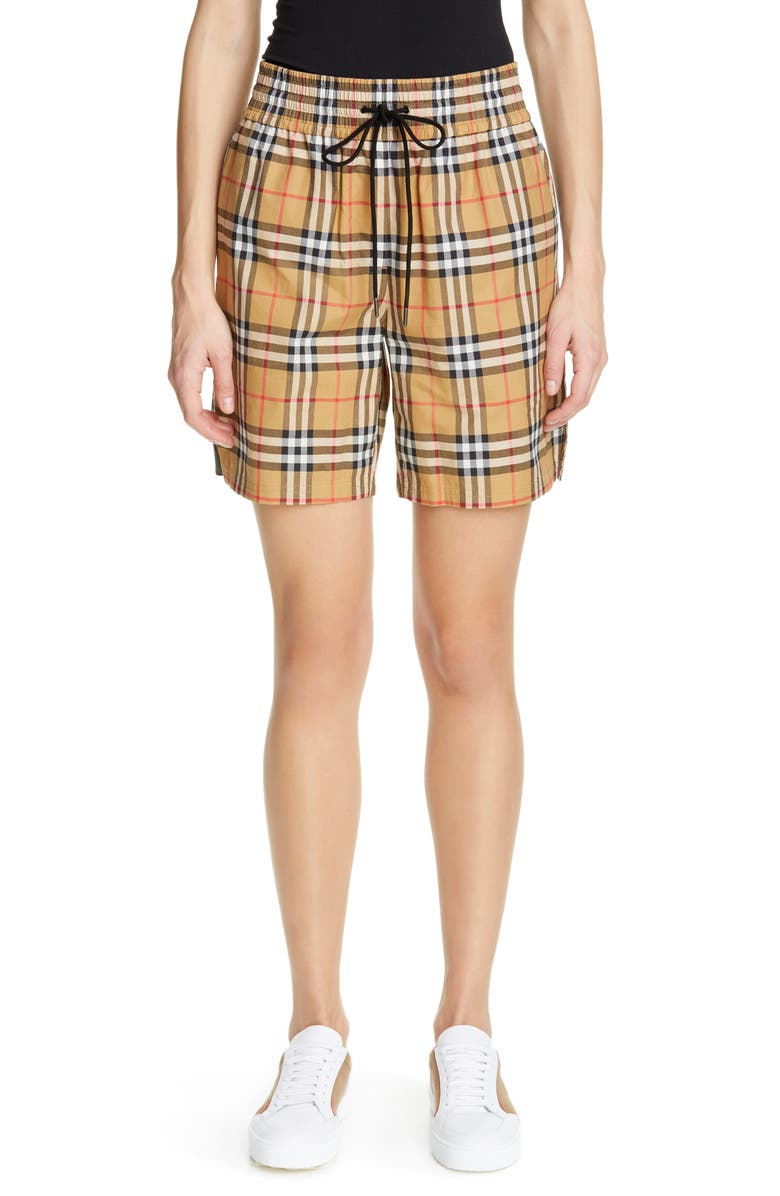 49152845007b8 Dovemoor Check Shorts, Main, color, ANTIQUE YEL IP CHK