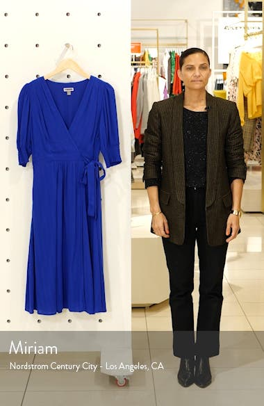 Smock Sleeve Wrap Dress, sales video thumbnail