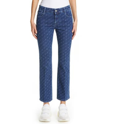 Stella Mccartney The Skinny Kick Crop Flare Jeans, Blue